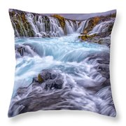 Bruarfoss  Throw Pillow