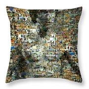 Bruce Lee Mosaic Throw Pillow