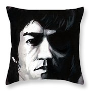 Bruce Lee Portrait Throw Pillow