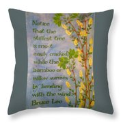 Bruce Lee, Willow Quote Throw Pillow