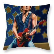 Bruce Springsteen The Boss Painting Throw Pillow