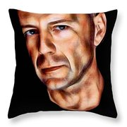Bruce Willis Collection Throw Pillow