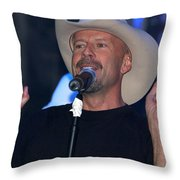 Bruce Willis Throw Pillow