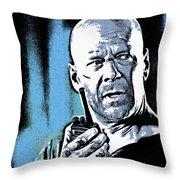 Bruce Willis Throw Pillow