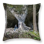 Bruce's Caves Throw Pillow