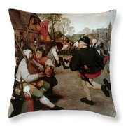Bruegel, Peasant Dance Throw Pillow
