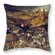 Bruegel: Triumph Of Death Throw Pillow