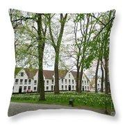 Bruges Begijnhof 1 Throw Pillow
