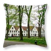 Bruges Begijnhof 2 Throw Pillow