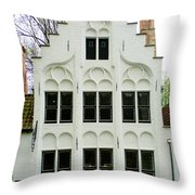 Bruges Begijnhof 3 Throw Pillow