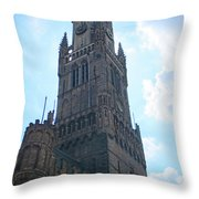 Bruges Belfry 5 Throw Pillow