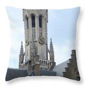 Bruges Belfry 6 Throw Pillow