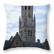 Bruges Belfry 7 Throw Pillow