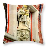 Bruges Detail 1 Throw Pillow