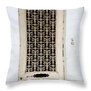 Bruges Door 1 Throw Pillow