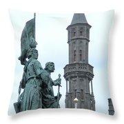 Bruges Markt 5 Throw Pillow