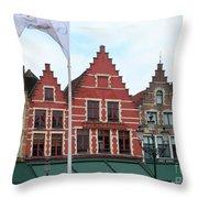 Bruges Markt 6 Throw Pillow