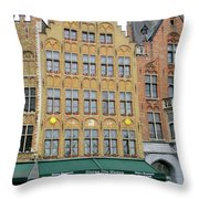 Bruges Markt 7 Throw Pillow
