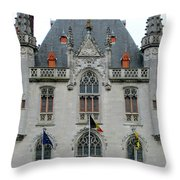 Bruges Markt 8 Throw Pillow