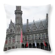 Bruges Markt 9 Throw Pillow