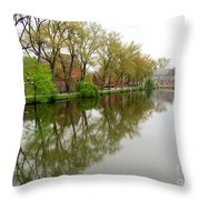 Bruges Minnewater 1 Throw Pillow