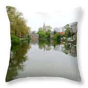 Bruges Minnewater 2 Throw Pillow