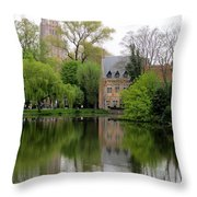 Bruges Minnewater 4 Throw Pillow