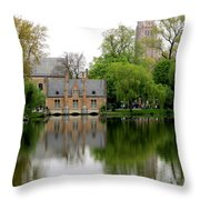 Bruges Minnewater 5 Throw Pillow