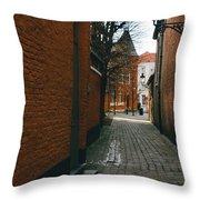 Bruges Orange Street Throw Pillow