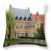 Bruges Sashuis 1 Throw Pillow