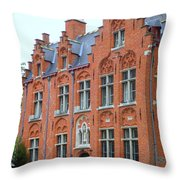 Bruges Sashuis 3 Throw Pillow