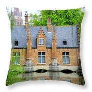 Bruges Sashuis 4 Throw Pillow