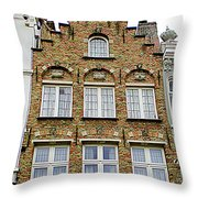 Bruges Window 15 Throw Pillow