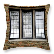 Bruges Window 3 Throw Pillow