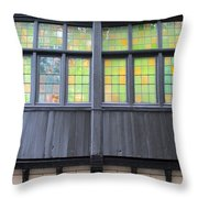 Bruges Window 4 Throw Pillow