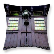 Bruges Window 5 Throw Pillow