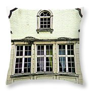 Bruges Window 8 Throw Pillow