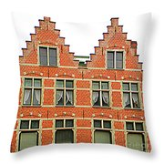 Bruges Window 9 Throw Pillow