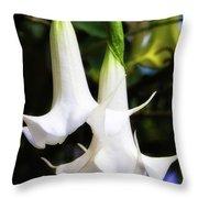 Brugmansia Throw Pillow