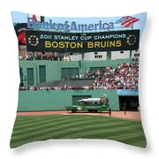 Bruins At Fenway Throw Pillow