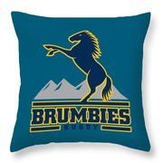 Brumbies Rugby Throw Pillow