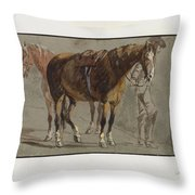Brun De Versoix Throw Pillow