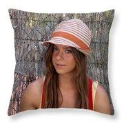 Brunette Throw Pillow