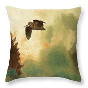 Bruno Liljefors, Landscape With Snipe. Throw Pillow