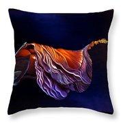 Brused Hibiscus Throw Pillow