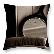 Brush And Mirror Throw Pillow