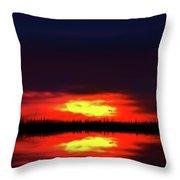 Brush Fire Sunset Throw Pillow