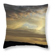 Brush Strokes In The Sky Throw Pillow