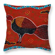 Brush Turkey Throw Pillow