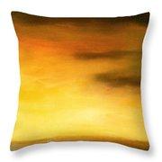 Brushed 4 - Vertical Sunset Throw Pillow